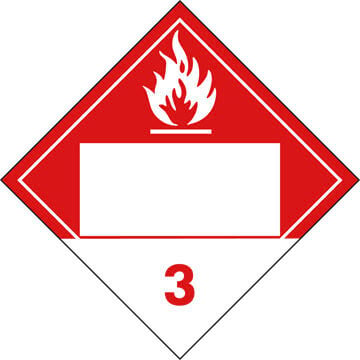 Class 3 Combustible Liquid Placard - Blank (02311)