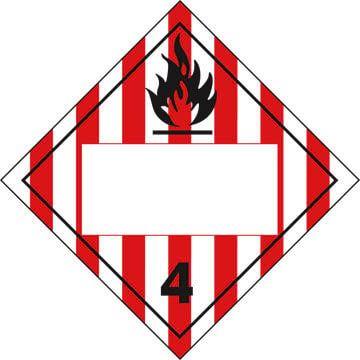 Division 4.1 Flammable Solid Placard - Blank (02318)