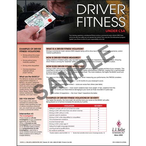 CSA Poster: Driver Fitness (03248)