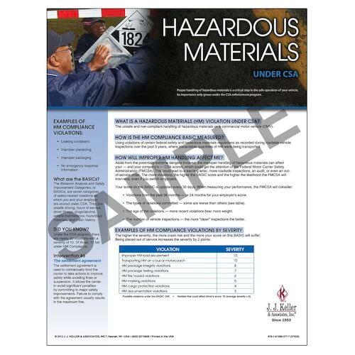 CSA Poster: Hazardous Materials Compliance (03251)
