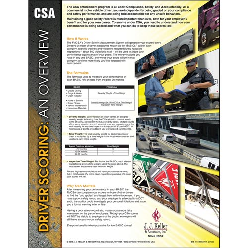 CSA Driver Scoring: An Overview Poster (04739)