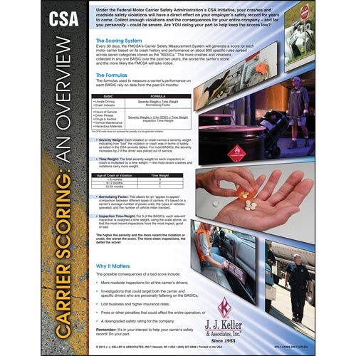 CSA Carrier Scoring: An Overview Poster (04740)