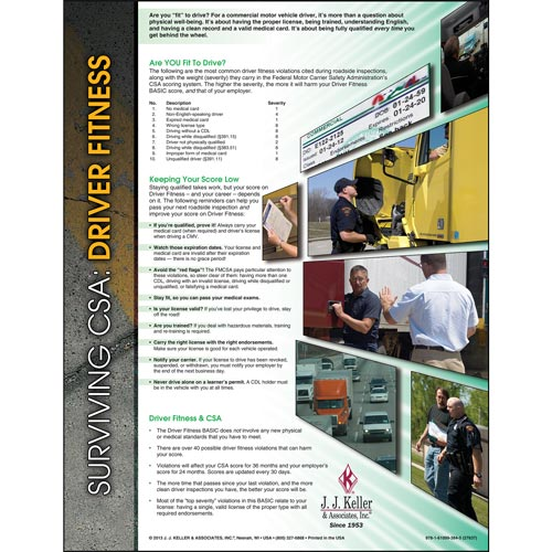 Surviving CSA: Driver Fitness Poster (04744)
