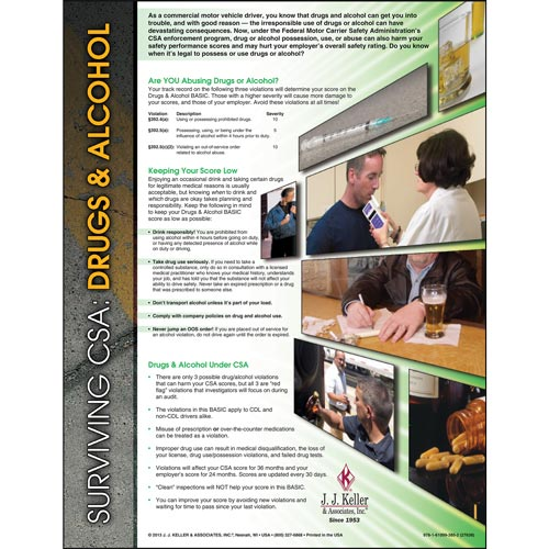 Surviving CSA: Drugs & Alcohol Poster (04745)