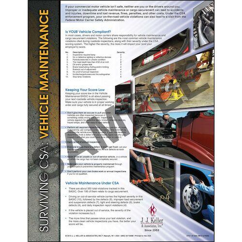 Surviving CSA: Vehicle Maintenance Poster (04746)