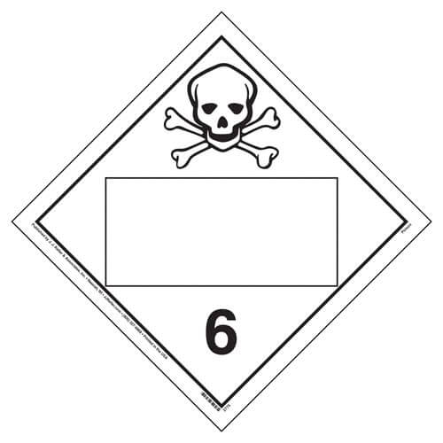 Division 6.1 Poison Placard - Blank (02332)