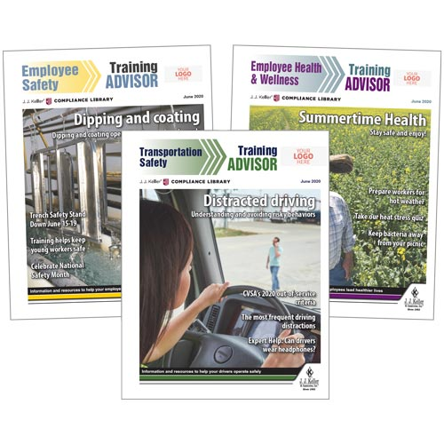 Custom Safety Newsletters - Keep It Moving and Eye On Safety (08680)