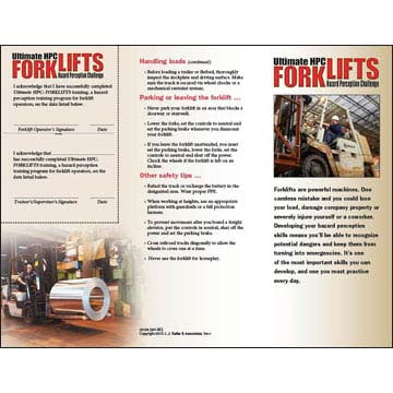 Forklift Hazard Perception Challenge - Quick Reference Card (07287)