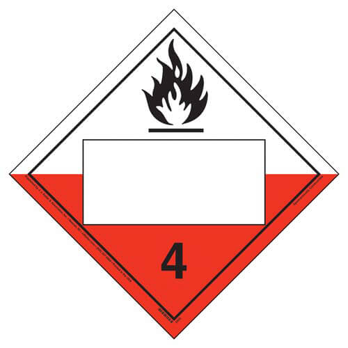 Division 4.2 Spontaneously Combustible Placard - Blank (02321)