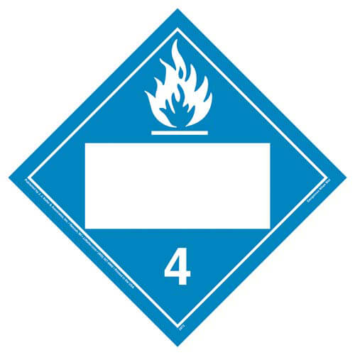 Division 4.3 Dangerous When Wet Placard - Blank (02323)