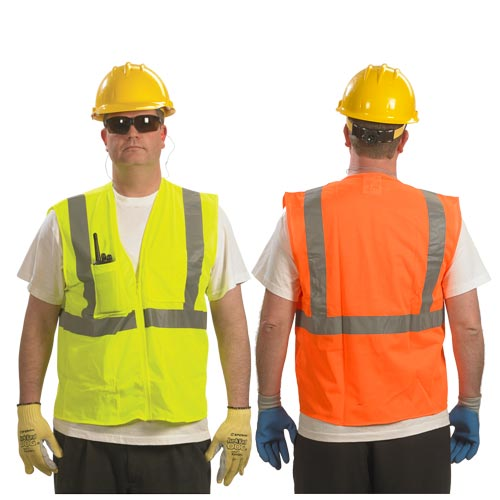 SafetyGear™ by PIP Type R Class 2 Safety Vest - Mesh, 4 Pockets (07354)