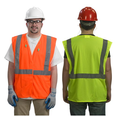 SafetyGear™ by PIP Type R Class 2 Safety Vest - Mesh, No Pockets (07355)