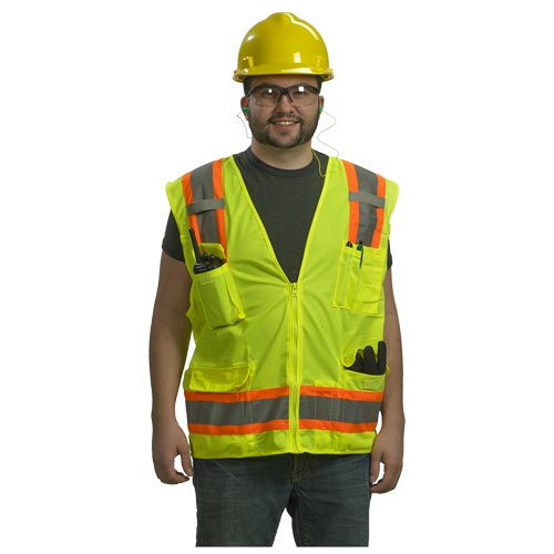 Type R Class 2 Two-Tone Surveyor Safety Vest by PIP (07356)