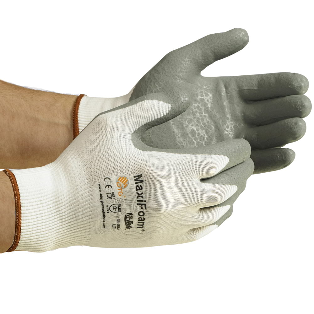 MaxiFoam® Flat-Dip Foam Nitrile Coated Seamless Knit Glove (07363)