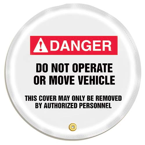 STOPOUT® Steering Wheel Message Cover - Danger Do Not Operate or Move Vehicle (07414)