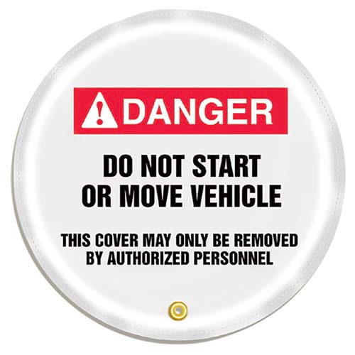 STOPOUT® Steering Wheel Message Cover - Danger Do Not Start or Move Vehicle (07415)