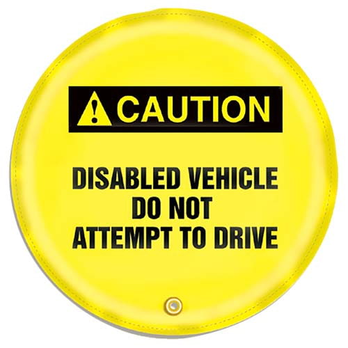 STOPOUT® Steering Wheel Message Cover - Caution Disabled Vehicle Do Not Attempt to Drive (07417)