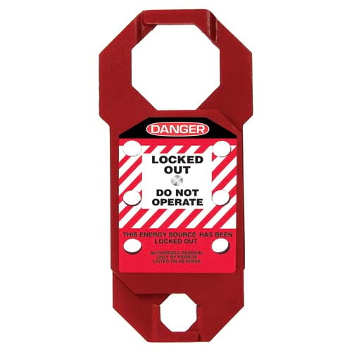 STOPOUT® Double-Cross Aluma-Tag™ Hasp - Danger Locked Out Do Not Operate (07423)