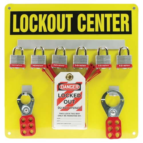 STOPOUT® Lockout Center - Aluminum Hanger Board, 6-Lock Cap (07426)