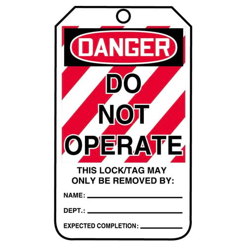 Lockout/Tagout Tag - Do Not Operate (Large Text) (07548)