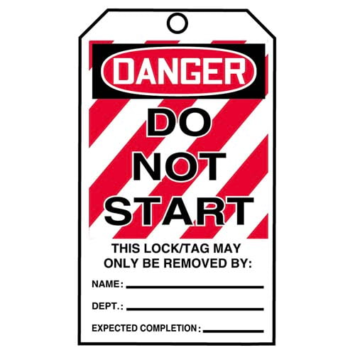 STOPOUT® Tags By-The-Roll - Danger Do Not Start (07591)
