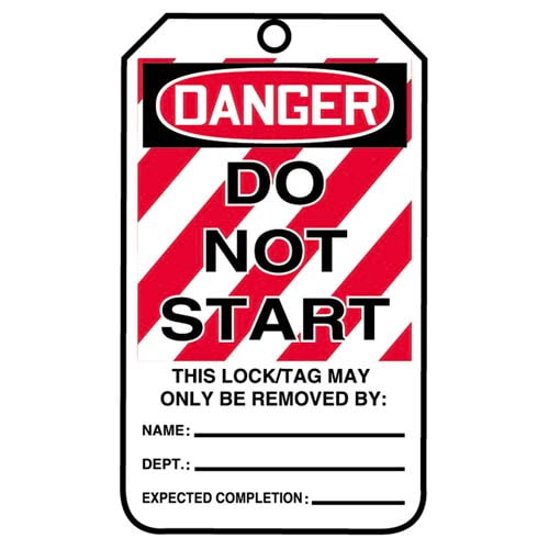 Lockout/Tagout Tag - Danger Do Not Start (07551)