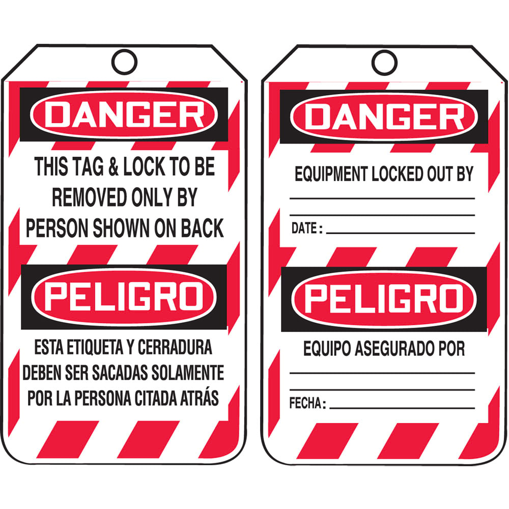 Lockout/Tagout Tags - Bilingual (Spanish) (07573)