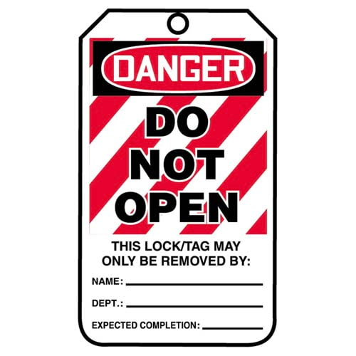 Lockout/Tagout Tag - Danger Do Not Open (07558)