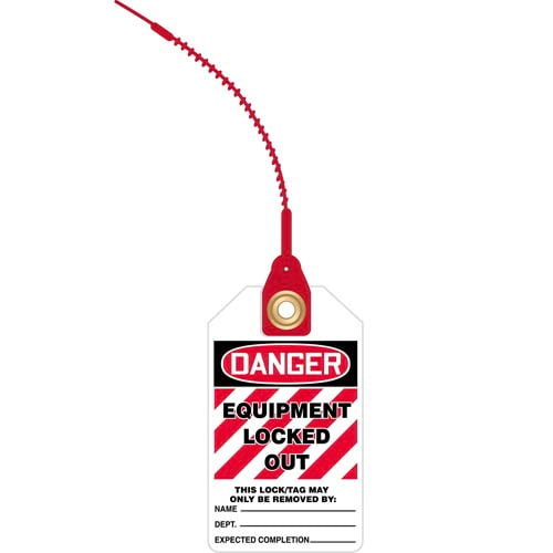 Loop n' Lock Tie Tags - Danger Equipment Locked Out (07584)