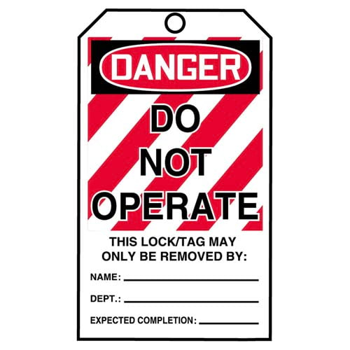 STOPOUT® Tags By-The-Roll - Danger Do Not Operate (07586)