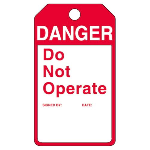 Perma-Tags™ - Danger Do Not Operate (07564)