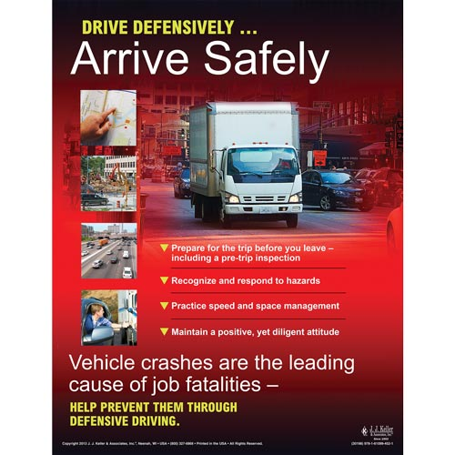 Defensive Driving for Light & Medium Duty Vehicles Training Program - Awareness Poster (07699)