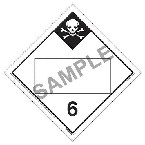 Division 6.1 Inhalation Hazard Placard - Blank (02334)