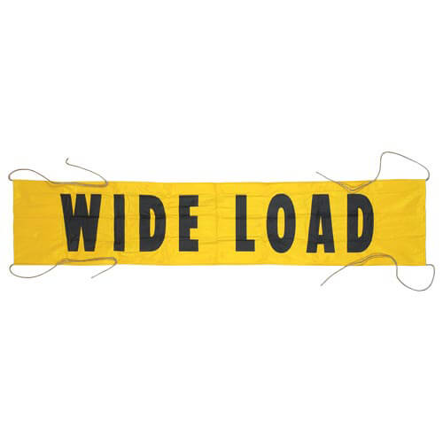 Vinyl Wide Load/Oversize Load Banner w/ Ropes Sewn In (01243)