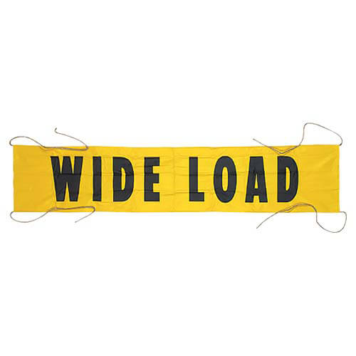 Vinyl Wide Load/Oversize Load Banner w/ Grommets for Ropes (00056)