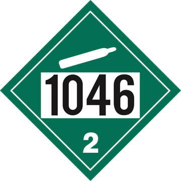 1046 Placard - Division 2.2 Non-Flammable Gas (01561)