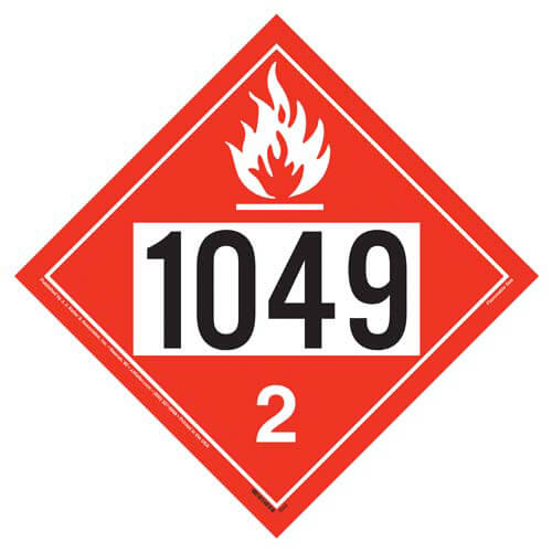 1049 Placard - Division 2.1 Flammable Gas (01564)