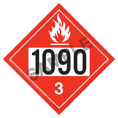 1090 Placard - Class 3 Flammable Liquid (02352)