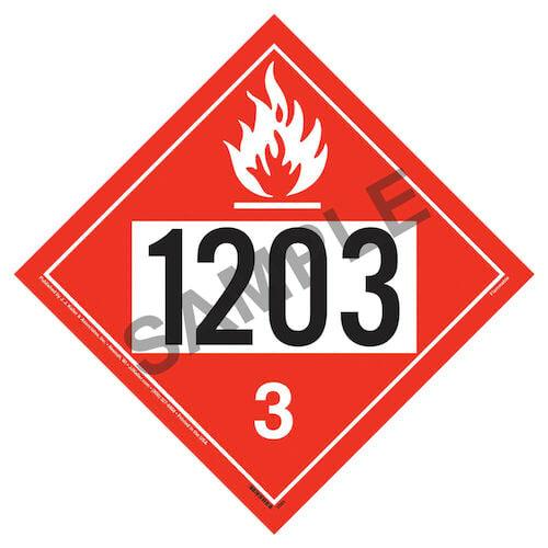 1203 Placard - Class 3 Flammable Liquid (02353)