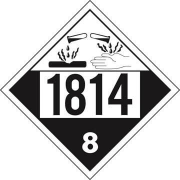 1814 Placard - Class 8 Corrosive (02522)