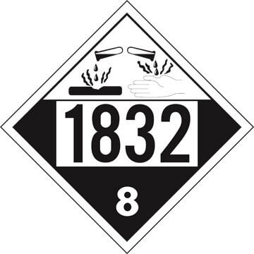 1832 Placard - Class 8 Corrosive (01570)