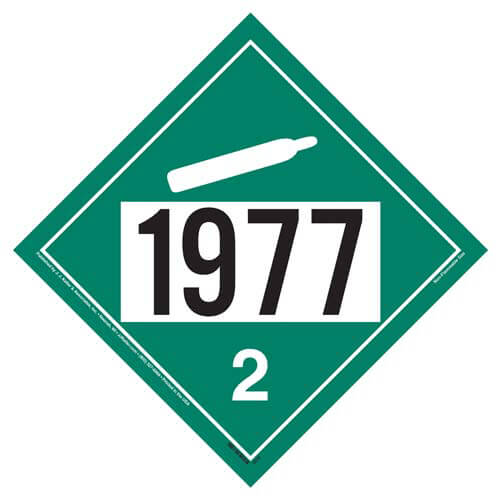 1977 Placard - Division 2.2 Non-Flammable Gas (01563)