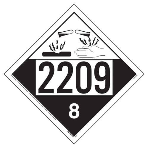 2209 Placard - Class 8 Corrosive (01569)
