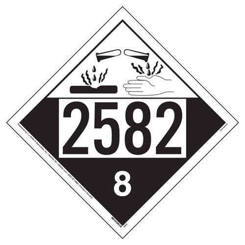 2582 Placard - Class 8 Corrosive (02528)