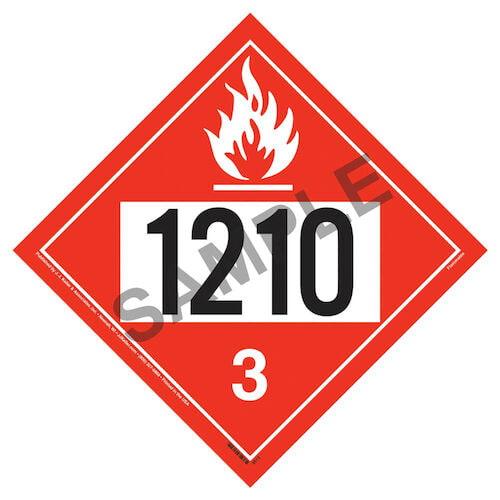1210 Placard - Class 3 Flammable Liquid (02372)