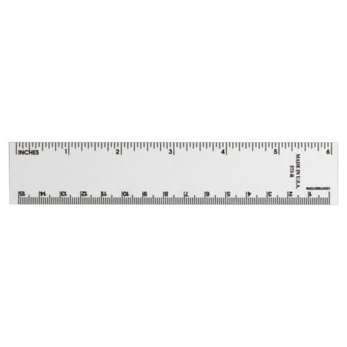 Six-Inch Clear Log Ruler (01602)