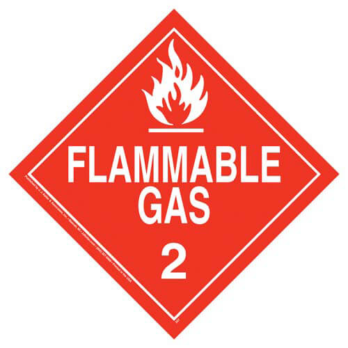 Division 2.1 Flammable Gas Placard - Worded (02453)