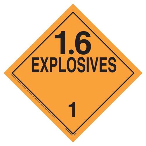 Explosives 1.6 (Class 1) Placard (07802)