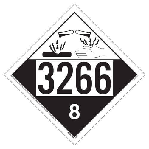 3266 Placard - Class 8 Corrosive (02233)