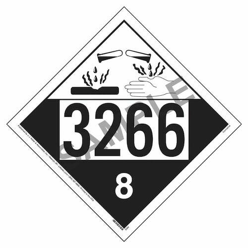3266 Placard - Class 8 Corrosive (02233)